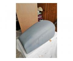 Wideline fuel tank for slimline