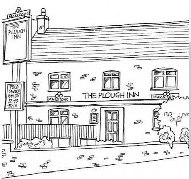 Line Drawing of The Plough Inn