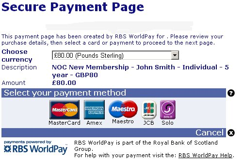 WorldPay Form