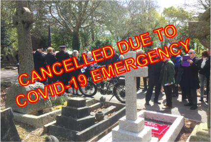 Wreath Laying Cancelled
